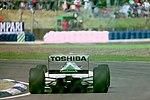 Derek Warwick - Footwork FA14 during practice for the 1993 British Grand Prix (33302731920).jpg