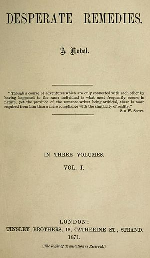 Desperate Remedies - First edition title page