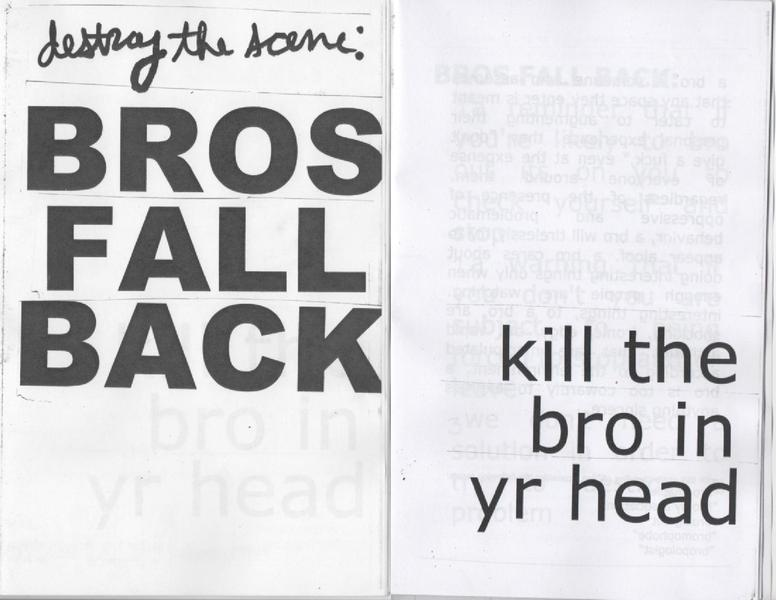 Bros Fall Back zine cover