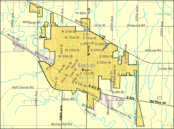 Detailed map of Hays