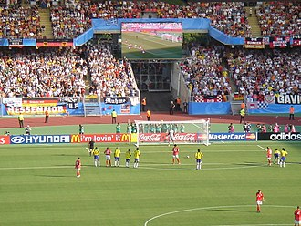 FIFA Confederations Cup - Germany against Brazil in the Frankenstadion in Nuremberg, Germany in the 2005 FIFA Confederations Cup