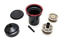 Vintage Soviet plastic container for 35mm film development process