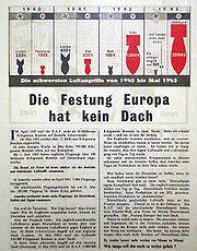 Propaganda leaflet dropped by the RAF after a bombing raid on Essen.