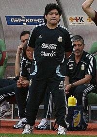 Como treinador da Seleção Argentina. ca05abeb78221