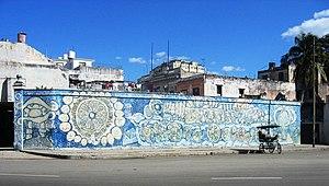 A mural in Havana, Cuba
