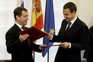 Dmitry Medvedev in Spain 3 March 2009-5