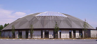Dolphinarium - The exterior of the Boudewijn Seapark dolphinarium in Bruges, Belgium