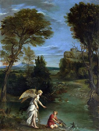 Domenichino -  Domenichino -  Landscape with Tobias