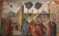 Domenico Ghirlandaio, Heimsuchung Mariae, 1486–1490, Tornabuoni-Kapelle, Santa Maria Novella Florenz.png