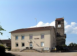 The town hall in Dompierre