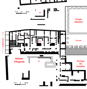 House of Augustus - Plan of the Domus Augusti