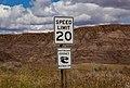 Don't Become Extinct - Buckle Up - Speed Limit 20 - Makoshika State Park (32782681432).jpg