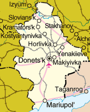 Donetsk Oblast - Detailed map of Donetsk Oblast
