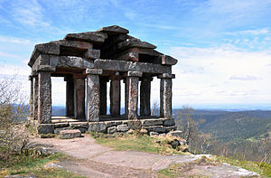 Mont Donon - Temple-like structure built in 1869 at the summit of Mont Donon to protect archeological remains