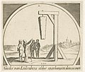 Doodskist met het lichaam van Gilles van Leedenberch aan een galg opgehangen. NL-HlmNHA 53012236.JPG