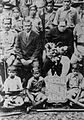 Dr. Babasaheb Ambedkar with a group of activists of the Samata Sainik Dal (Social Equality Army).jpg