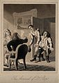 Dr. Slop arriving at the home of Tristram Shandy, his father Wellcome V0016120ER.jpg