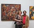 Dr. Veronica Irina Bogdan and Ashot Khachatrian on the exhibition openning in the National Gallery of Art, Erevan.jpg