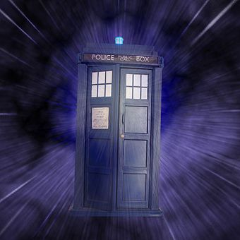 The image of the TARDIS is iconic in British popular culture. Dr Who (316350537).jpg