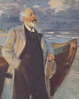 Holger Drachmann - Drachmann painted by Peder Severin Krøyer.