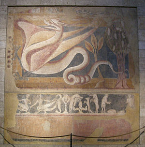 Paintings from Arlanza - Image: Dragon passant, burgos, post 1300