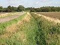 Drainage ditch alongside farm track and footpath - geograph.org.uk - 962331.jpg