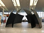 Dramatic sculpture area at Toronto Pearson airport today (33395338961).jpg