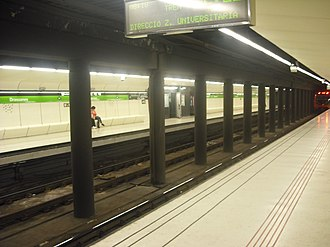 Drassanes (Barcelona Metro) - Image: Drassanes inside, Barcelona Metro