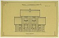 Drawing, Rendering of the Elevation of the Principal Facade of a Two Family Mass-Operation House (type No.1), ca. 1921 (CH 18384997-2).jpg