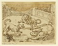 Drawing, Sketchbook Page- A Dog, After Having Killed an Elephant, Fights a Lion, ca. 1590 (CH 18116611-2).jpg