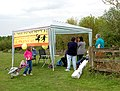 Draycote Water - charity fundraising booth - geograph.org.uk - 1297547.jpg