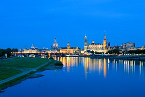 Elbe - The Elbe passing Dresden.