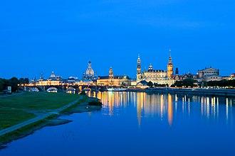 Elbe - The Elbe passing Dresden.