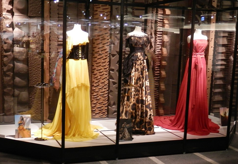 Dresses at the Namie Amuro exhibit at Paseo in Sapporo
