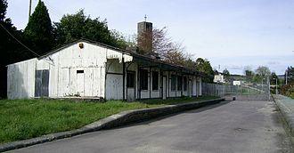 Cork, Bandon and South Coast Railway - Surviving station building and platforms at Drimoleague