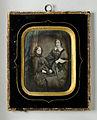 Dubbelporträtt, äldre och yngre kvinna. 1840 - Nordiska Museet - NMA.0052771 1.jpg
