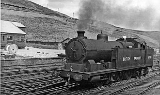 0-8-4T - GCR Class 8H 69901 at Dunford Bridge on the Woodhead Line in 1950