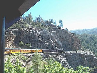 Four Corners - The Durango and Silverton Narrow Gauge Railroad, now a heritage railway, formerly connected the Four Corners area to the national rail network.