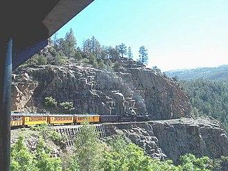 Durango and Silverton Narrow Gauge Railroad - Highline above Animas Canyon