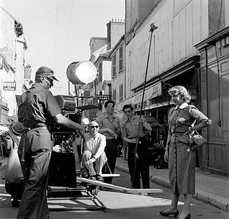 Emil-Edwin Reinert - Emil-Edwin Reinert during production of Le destin s'amuse, 1947