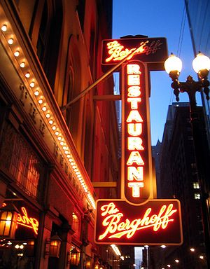 The sign from The Berghoff (now closed) in Chi...