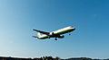 EVA Air Airbus A321-211 B-16203 Final Approach to Taipei Songshan Airport 20150102a.jpg