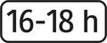 E 12 - Dodatková tabuľka s textom, časové ohraničenie (vzor).png