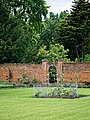 Easton Lodge Gardens, Little Easton, Essex, England ~ walled garden gateway northeast.jpg