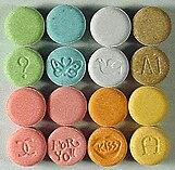 Imagem de comprimidos de Ecstasy