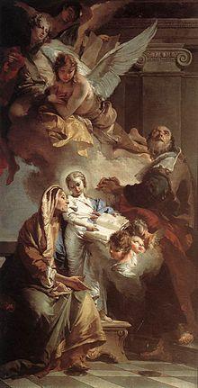 L'educazione della Vergine Giambattista Tiepolo