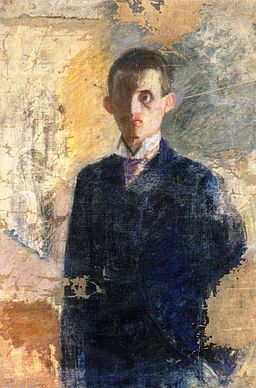 Edvard Munch - Self-portrait (1888?)