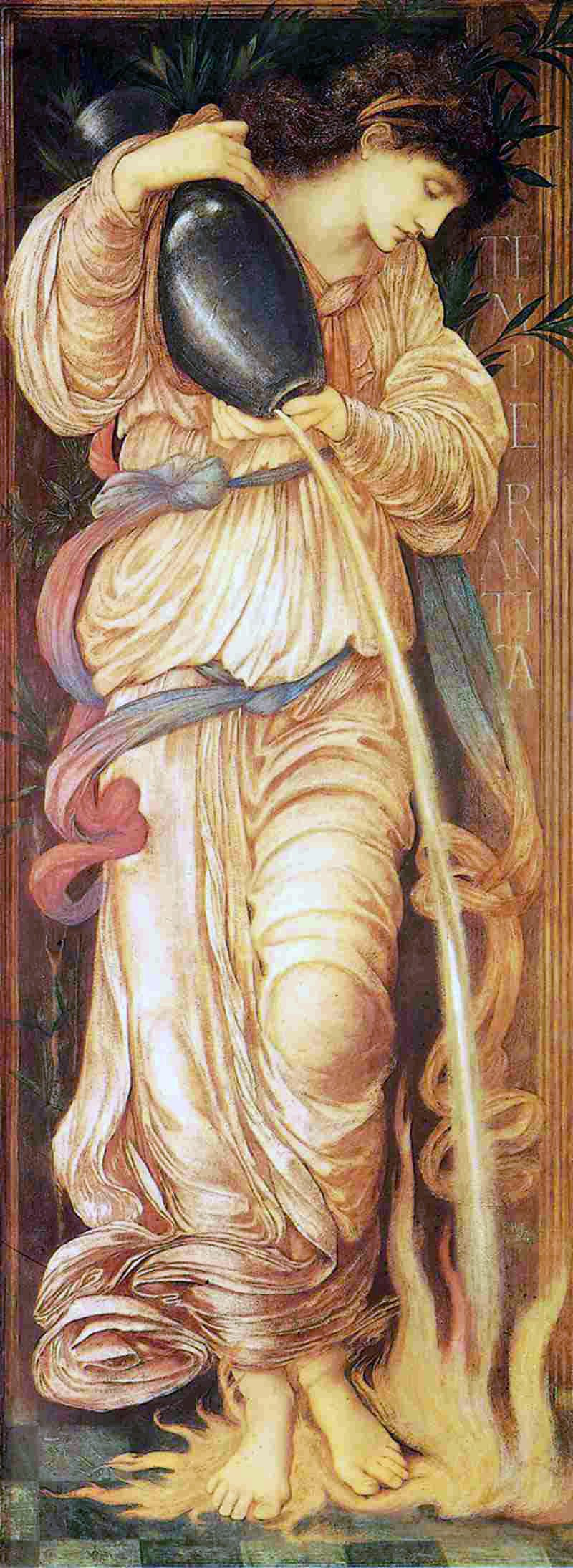 Edward Burne-Jones Temperantia 1872