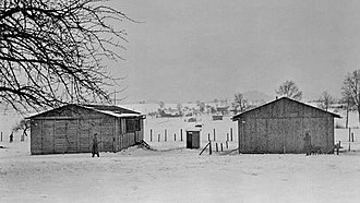 Wauwil - Wauwilermoos camp assumably in winter 1943/44