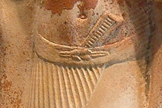 Reef knot - Image: Egypte louvre 279 couple detail reef knot